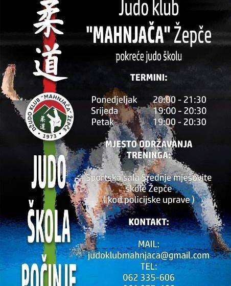 Džudo klub Mahnjača pokreće novu Školu Judo-a