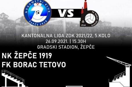 U nedjelju na domaćem terenu NK Žepče 1919 dočekuje FK Borac iz Zenice